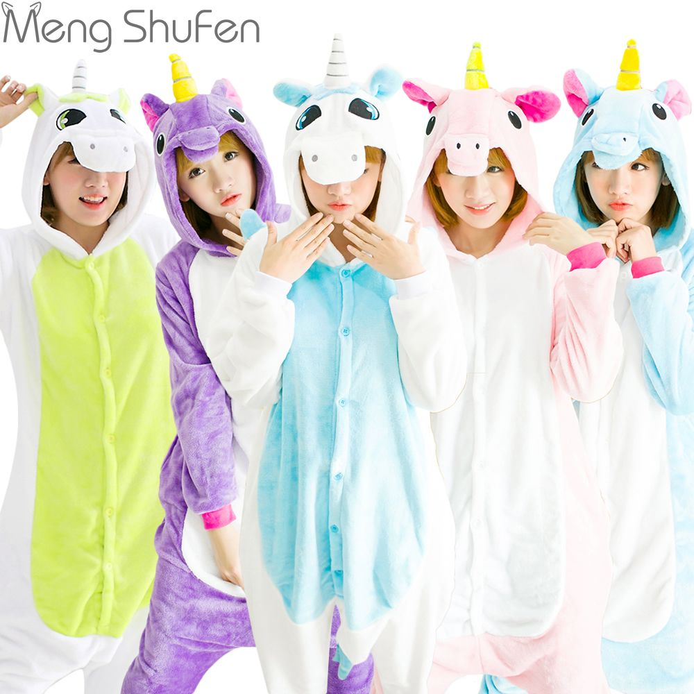 Halloween Autumn and Winter Pajama Sets Cartoon Sleepwear Women Pajamas Christmas Flannel Animal Stitch Panda Unicorn Pajama
