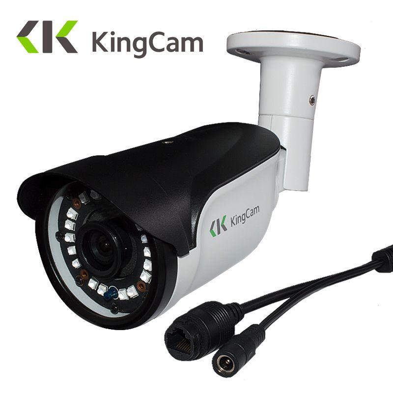 KingCam métal Laser IR LED 4MP sécurité 48 V POE IP caméra 48 V extérieure ONVIF balle CCTV 1080 P 20fps Surveillance vidéo ipcam