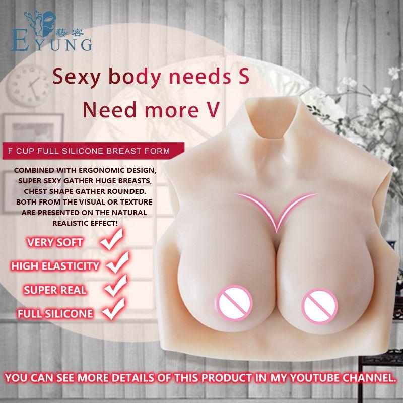 EYUNG Top qualität E Tasse Realistische Silikon Brust Form Künstliche Titten Enhancer Crossdresser brust für mann transen Trandsgender