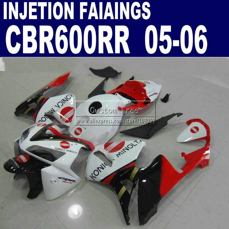 7 gifts + Gugel injection molding straße kit für Honda Konica Minolta CBR600RR verkleidung 600RR 2005 2006 CBR 600 RR 05 06 körper verkleidungen