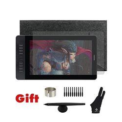 Gaomon pd1560 15.6 pulgadas 10 teclas arte gráficos profesionales Tablets pantalla USB dibujo Tablets Monitores para Windows y Mac con regalos