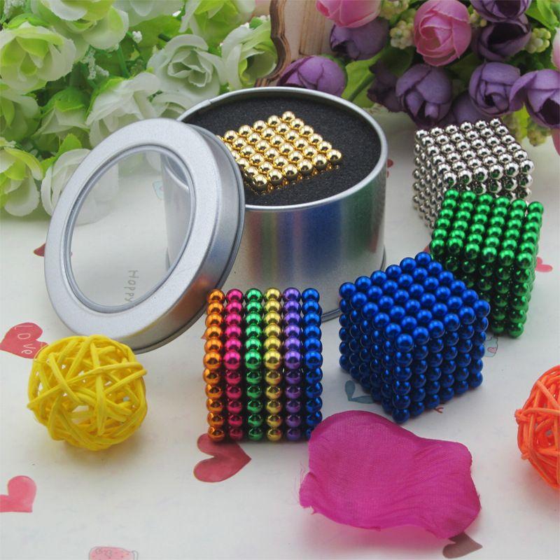2017 nouveau 5mm cube magnétique boule magnétique perles perle balle 216 Cubes Magiques jouets Loisirs Carré bloc de Sixième ordre cube bébé jouets