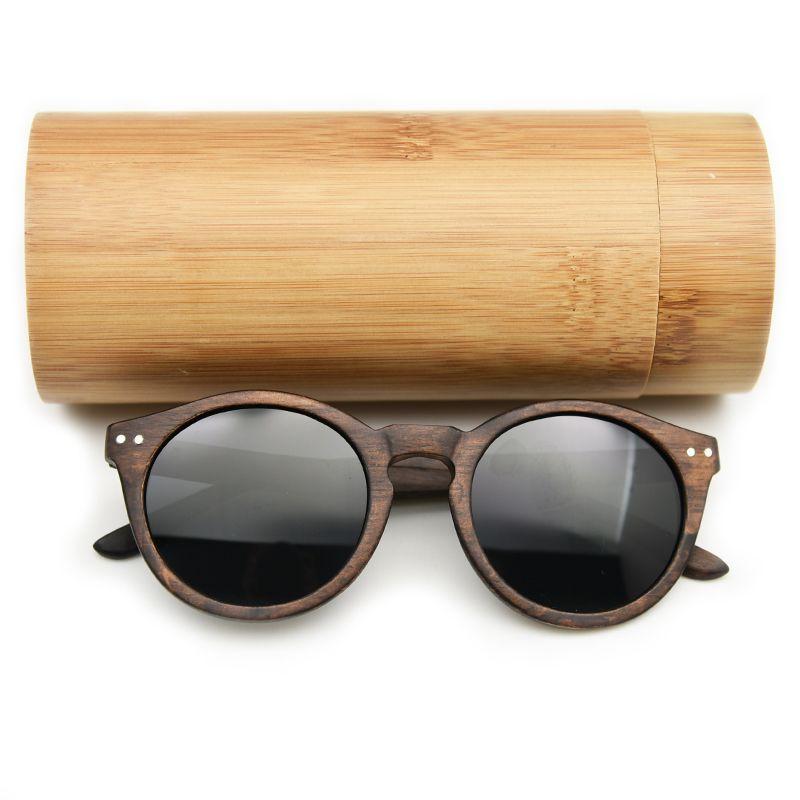 2018 femmes hommes Cateye bois lunettes de soleil Vintage rond lunettes de soleil polarisées lentille livraison gratuite