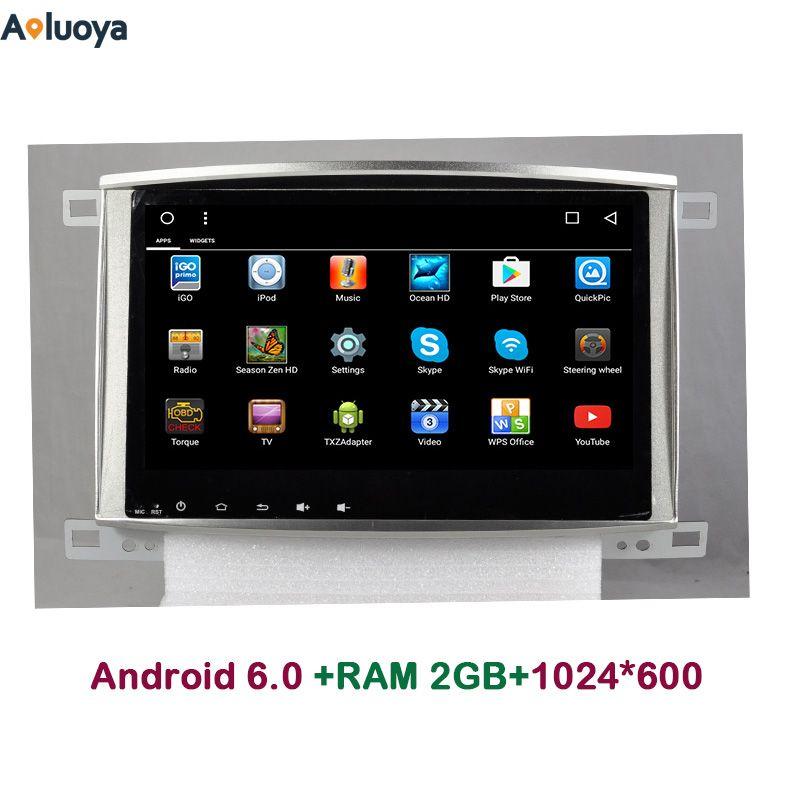 Aoluoya 2 GB RAM Quad Core Android 6.0 AUTO DVD Radio GPS Navigation FÜR Toyota Land cruiser 100 LC100 Lexus IX470 spiegel link 3G