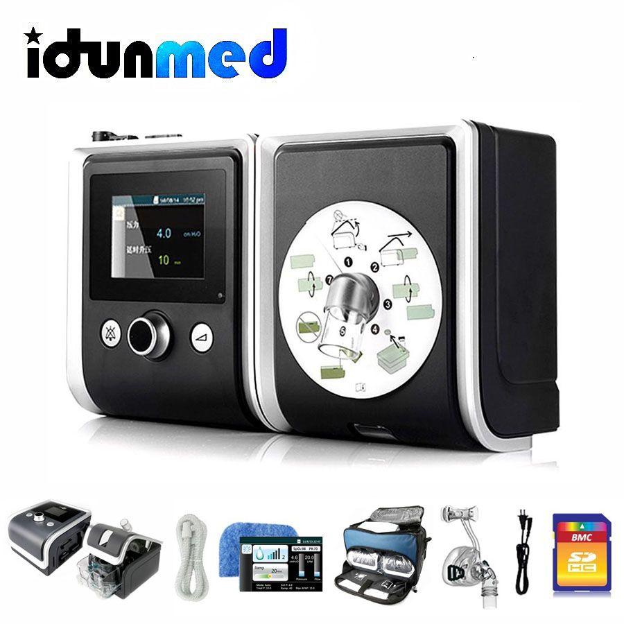 BMC CPAP Schnarchen Maschine Tragbare Atem Gerät Mit Nasen Maske Full Face Maske Strap SD Karte Rohr Filter Tasche Für schlafapnoe