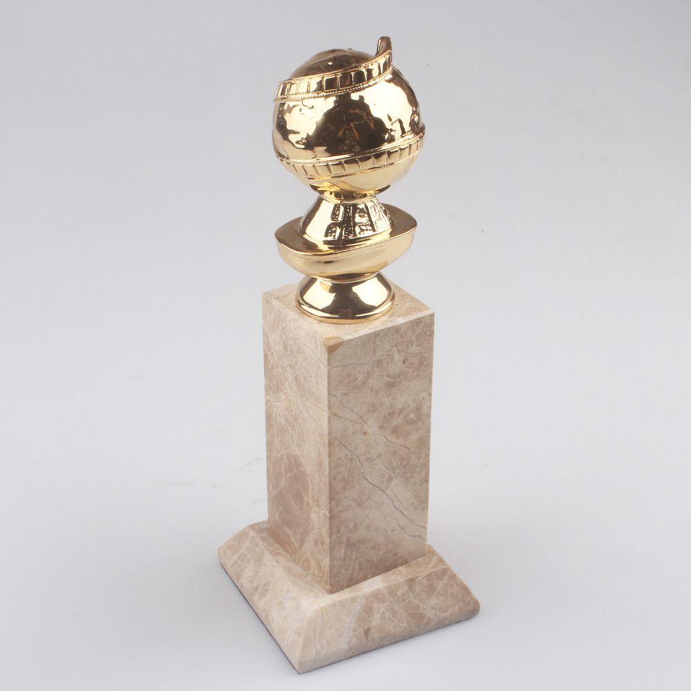 Free Shipping Golden Globe Award film Trophy Replica Zinc Diecast Golden Globe Awards