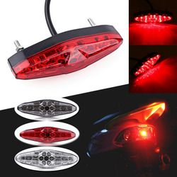 Motorcycle Portable Integrated Brake+Turn Signals Tail Lights Motorbike Rear Light ATV Dirt Bike Universal 12V 15 LED