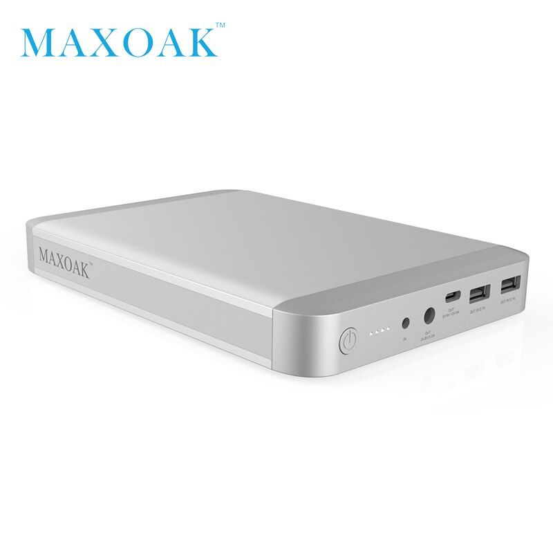 MAXOAK 36000mAh laptop Power Bank USB-C Type-C (5/9/12V)3A port best external batter charger for Macbook Ipad and smartphone