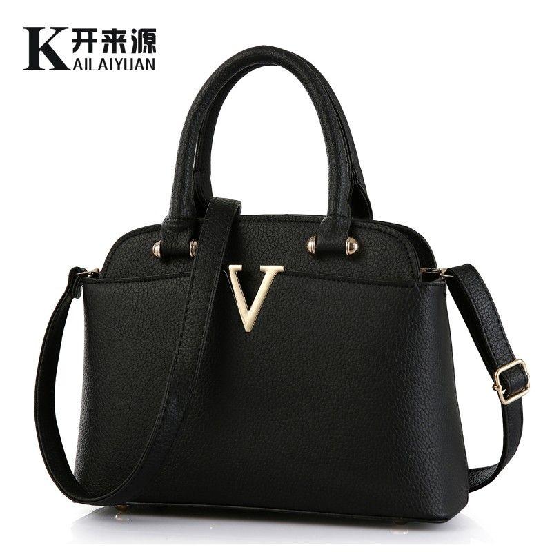 KLY 100% Echtem leder Frauen handtaschen 2018 Neue MS frische paket von medium mode handtaschen Schulter Messenger Handtasche