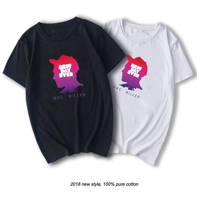 Mac Miller Tshirt Rap Men Cool Graphic Print T-shirt Cotton O-neck Shirts Summer Casual Tops Streetwear Hip Hop Rapper Shirt