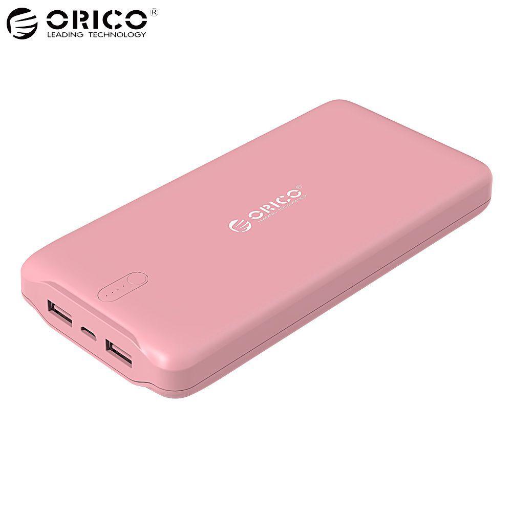 ORICO 20000 mAh Energien-bank-externe Batterie-bewegliche Ladegerät Dual USB power Handy-ladegerät für iPhone x 6 7 8 Samsung MacBook