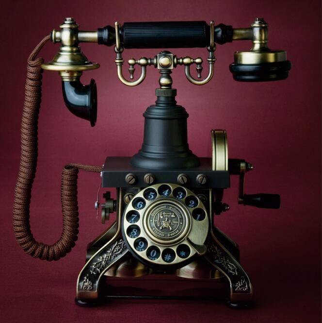 Européenne Rotatif Cadran Antique Vintage Ménage Fixe Téléphone Fixe Haut de gamme Pour Bureau D'affaires Accueil