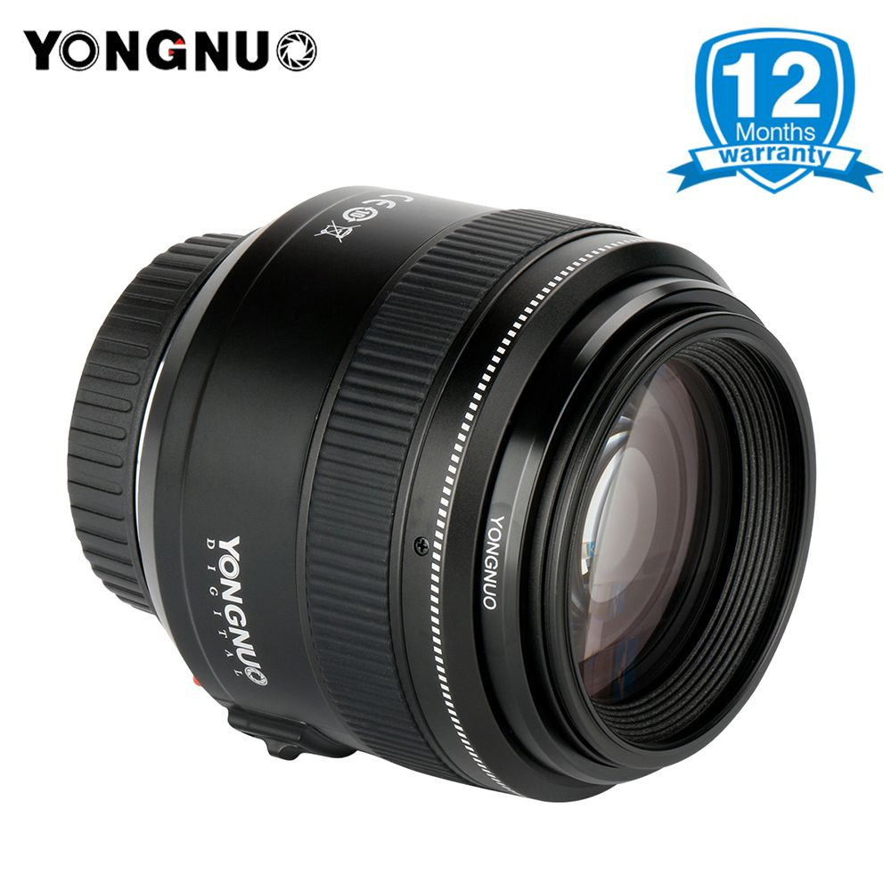YONGNUO Official YN85mm F1.8 AF/MF Medium Telephoto Lens for Canon, Full Time Manual Focus lens for 7DII 650D 5DIII EOS camera