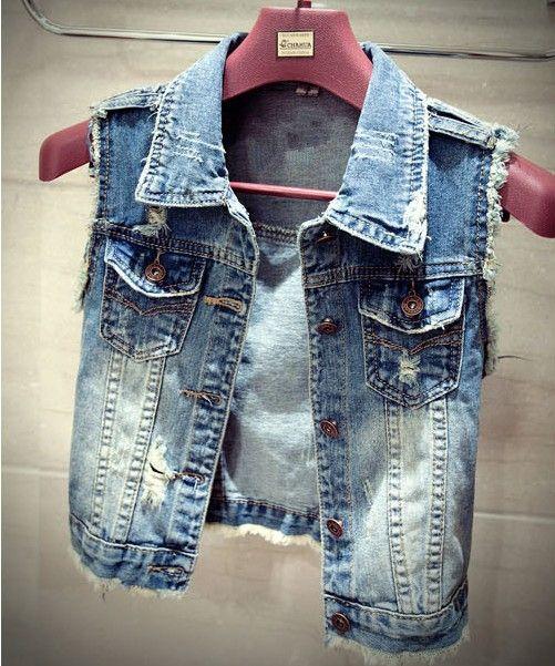 Cheap wholesale 2017 Hot selling Women's all-match hole Denim Vest Outerwear short design female sleeveless Denim Vest waistcoat