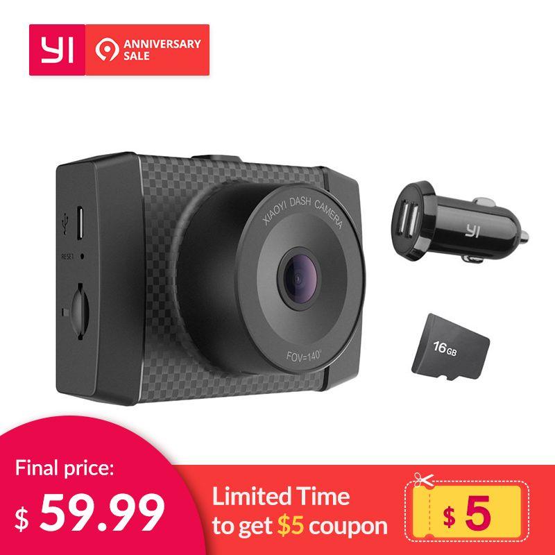 YI Ultra Dash Camera With 16G Card Black 2.7K Resolution A17 A7 Dual Core Chip Voice Control light sensor 2.7-inch Widescreen