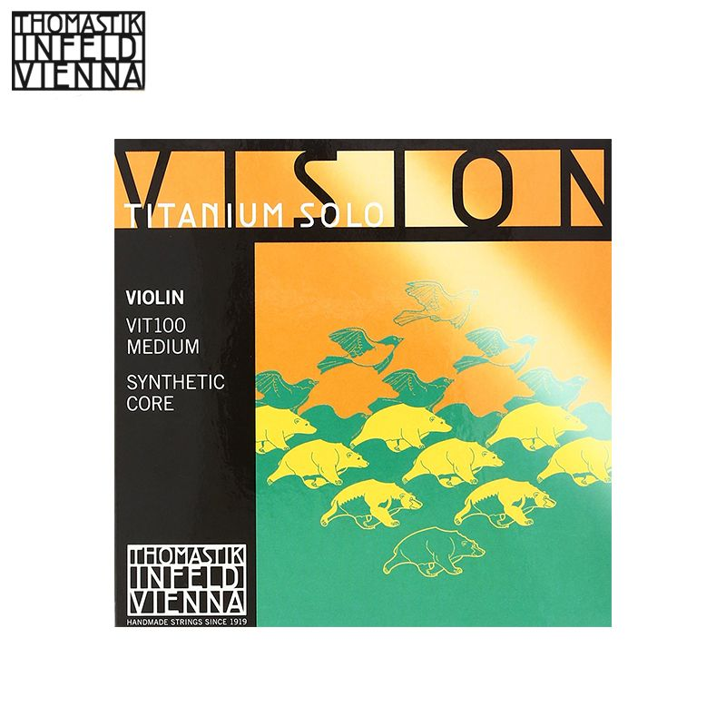 Thomastik-infeld vit100 vision titanium violine solo saiten, komplette Set, 4/4 größe, synthetische Core