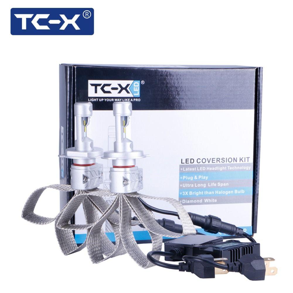 TC-X Luxeon ZES LED Headlight H4 H7 H11 LED Bulb H1 H3 H16 HB4 HB3 P13W 9012 Auto LED Lamp 12V Car Styling PSX24W PSX26W 6500K