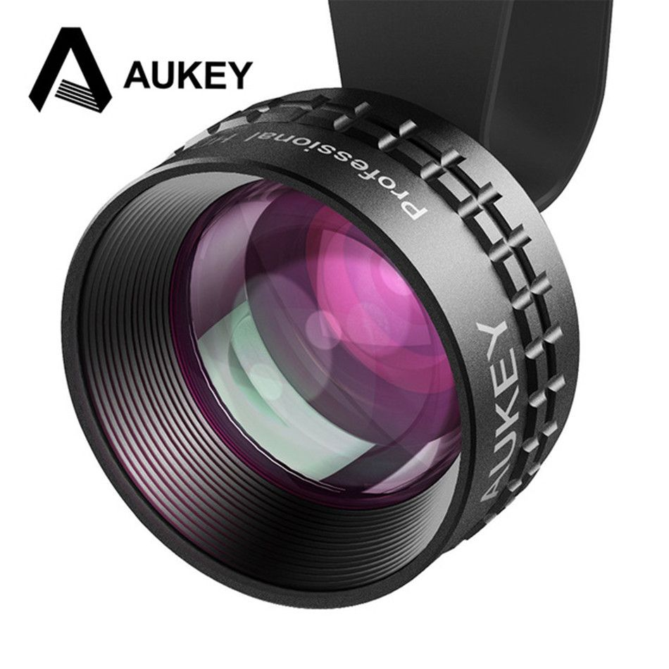 AUKEY Optic Pro Lens 2X HD Telephoto Cell Phone Camera Lens kit 2X AS Close No Distortion No Dark Circle for HTC iPhone Samsung