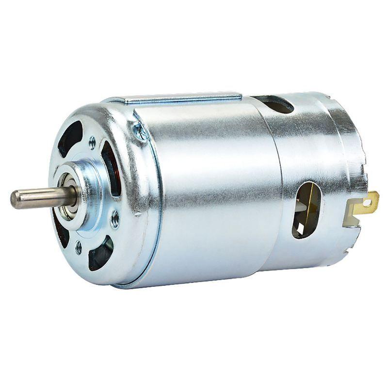 895 Micro-Moto DC12-24V High Power Generator 15A 360W 12000rpm Double Ball Bearing 775 Upgrade DC Motor Large Torque