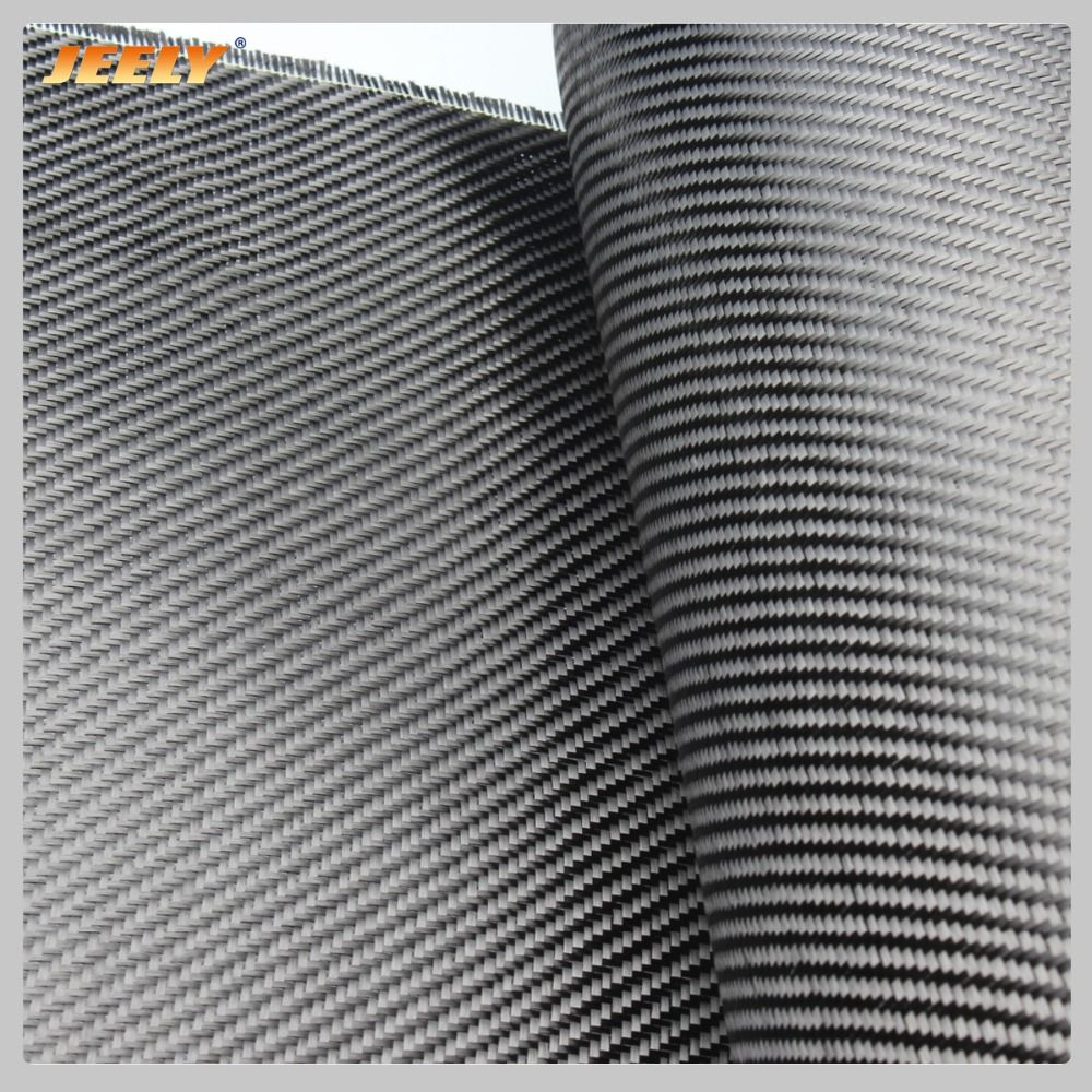 Jeely 3K 2/2 Carbon Fiber 45degree Twill Woven Fabric 200g/m2 0.28mm Thick Carbon Cloth for Car Spoiler Building
