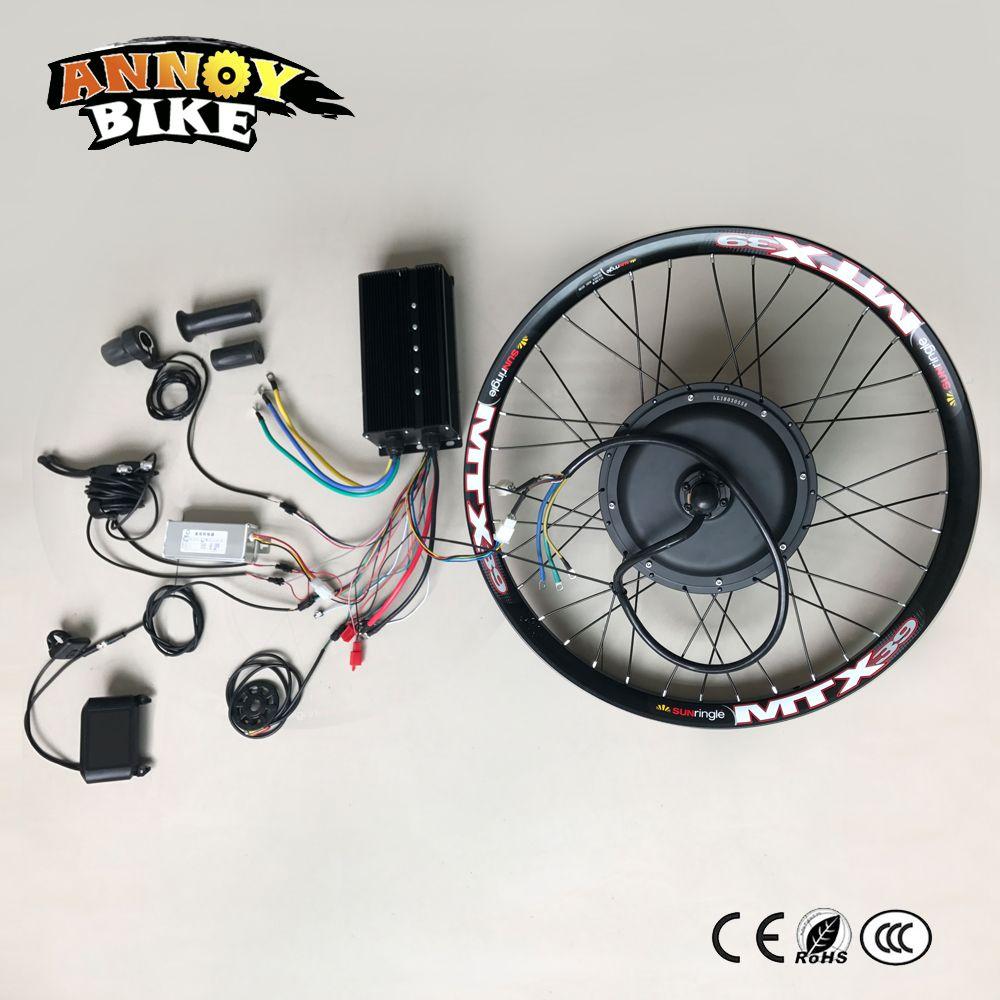 High Speed Elektro DIY Motorrad DIY 72 v 5000 watt Elektrischer fahrradinstallationssatz Elektrisches Fahrrad Umbausatz