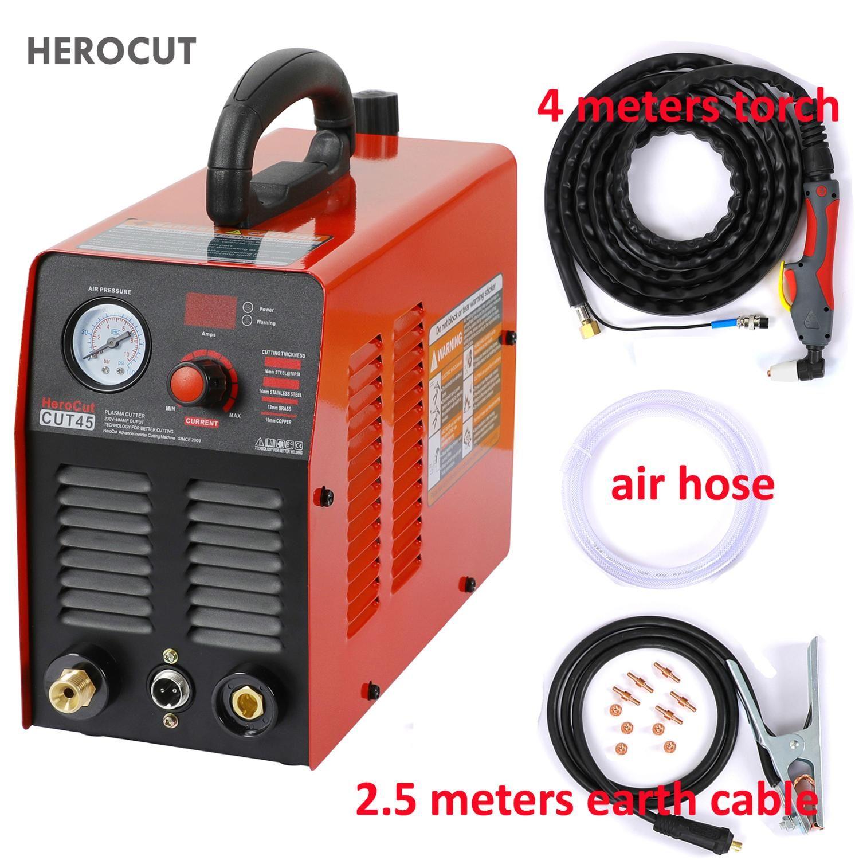 HeroCut 220V Plasma Cutter IGBT Plasma schneiden maschine Cut45 220V 10mm sauberen schnitt Große zu cut alle stahl