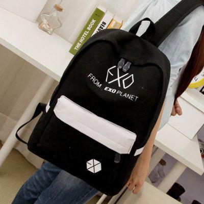 Женщины печати рюкзак школьные сумки EXO Рюкзак Корея опрятный стиль EXO холст рюкзак дорожная Bolsas Mochilas Femininas