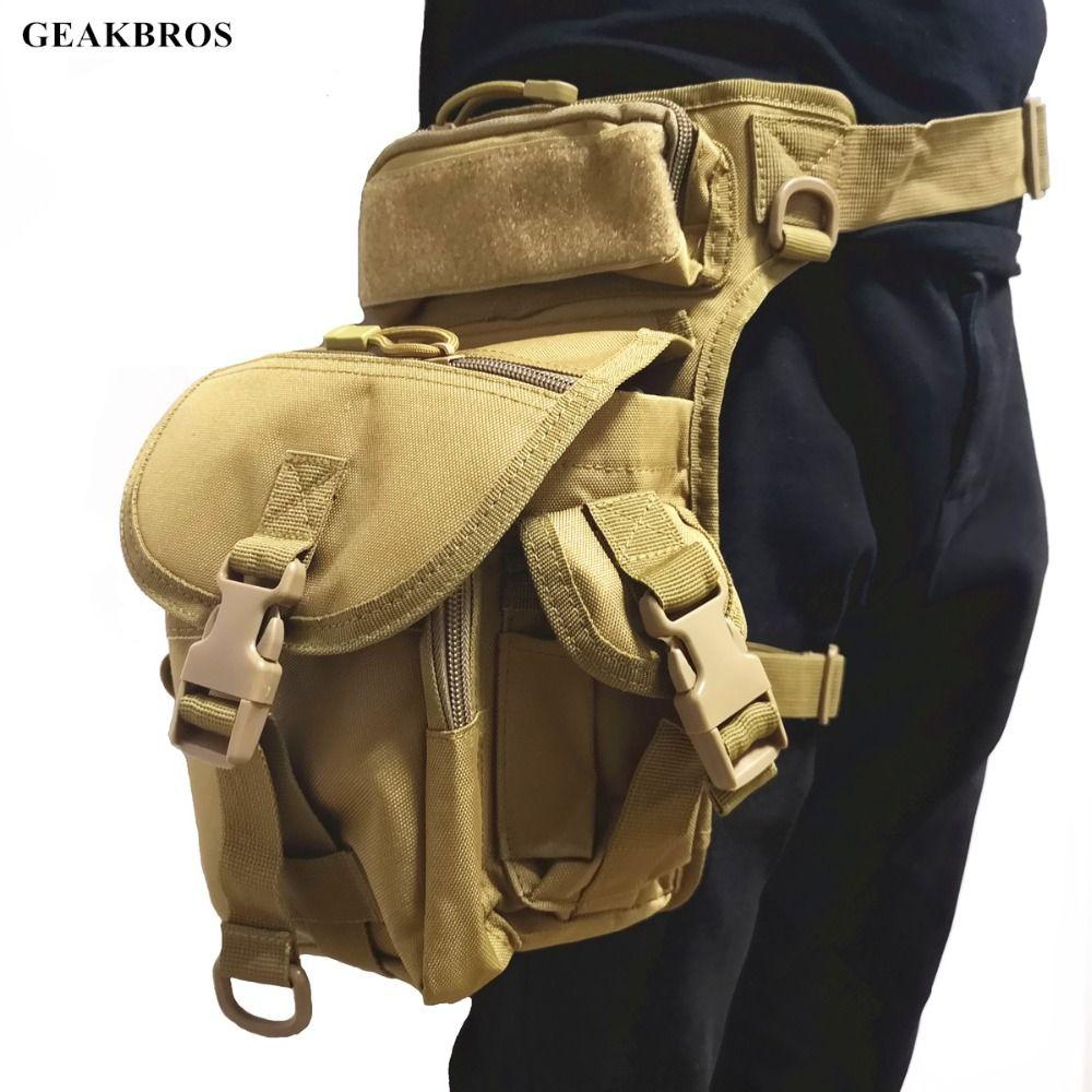 Sac de jambe de chute tactique militaire sac de cuisse Fanny sac de chasse sac de taille moto équitation hommes 1000D paquets de taille militaire