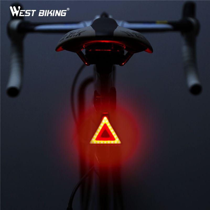 WEST BIKING Cycling Lights Taillight Bike Rear Tube Lights Waterproof USB Rechargeable LED Safe Warning Lamp Bicycle Bike Lights