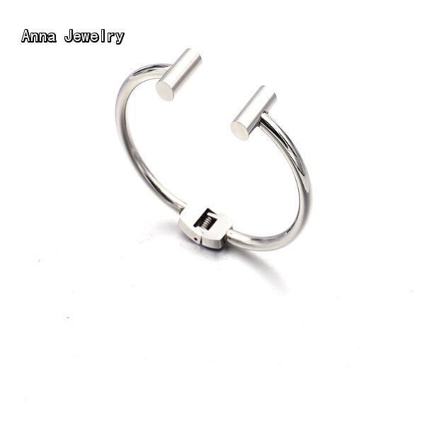 New Fashion Designer Cuff Bracelets Women Stainless Steel Bar Bracelet Bangle,Small Size Bracelet For Women Daytime Wear Jewelry