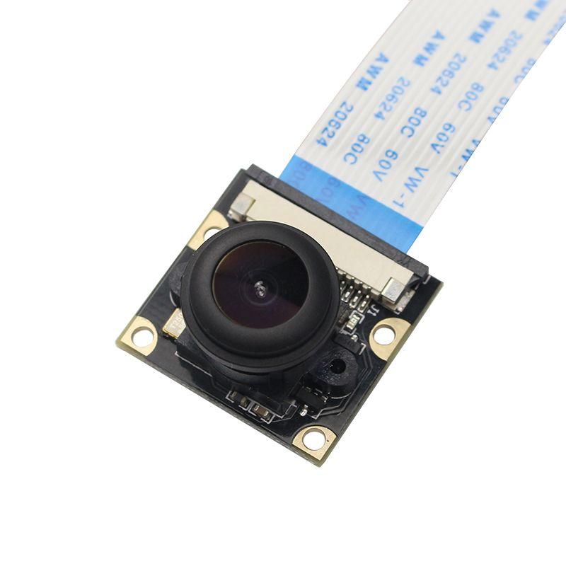 Framboise Pi 4 modèle B Vision nocturne caméra 5MP large 130 160 degrés Fisheye lentille 1080P caméra pour Rasberry Pi 4B/3B +/3B