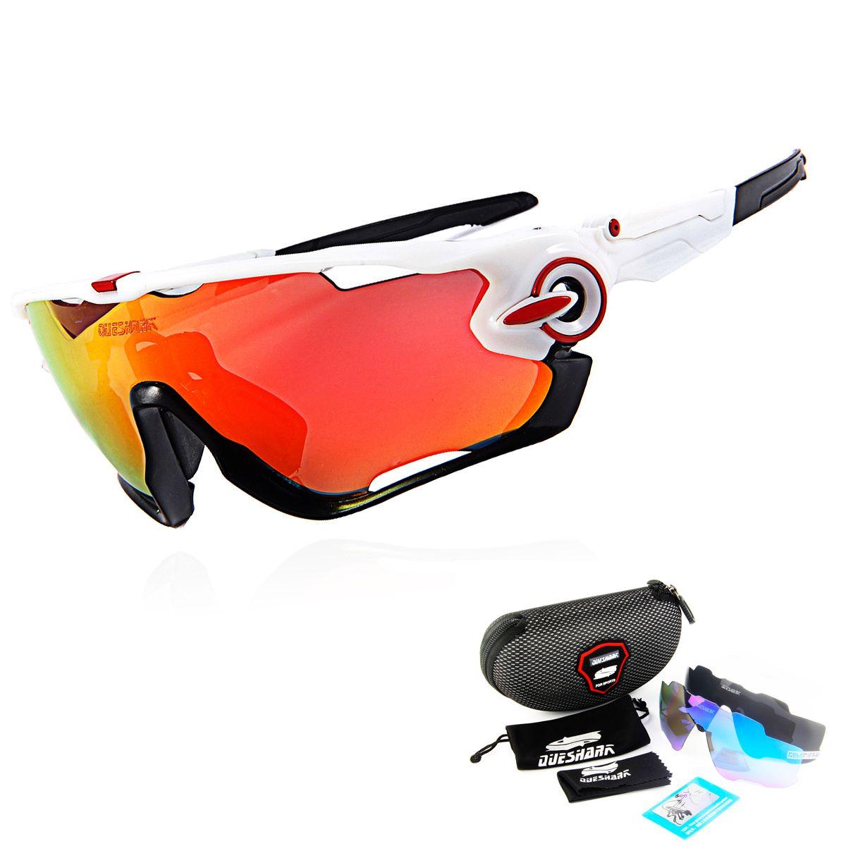 2018 Most Popular Queshark Brand TR90 <font><b>Frame</b></font> Polarized Sunglasses For Cycling Eyewear Cycling Glasses Bike Sunglasses MTB