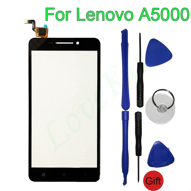 A5000 Front Panel Touchscreen For Lenovo A5000 Smartphone Touch Screen Sensor LCD Display Digitizer Glass TP Repair Replacement