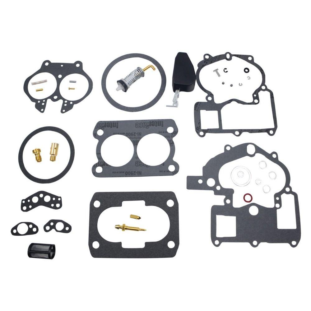 Carburetor Rebuild Kit for Mercury Marine 3.0L 4.3L 5.0L 5.7L Mercarb 2 BBL Carburetor 3302-804844002 1389-9562A1 1389-9563A1