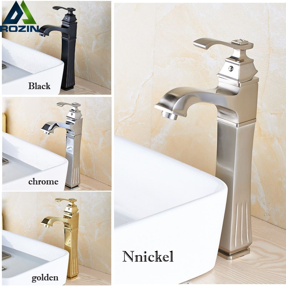 Newly Oil Rubbed Bronze Golden Basin Faucets Deck Mounted Single Handle Countertop Basin Water Taps
