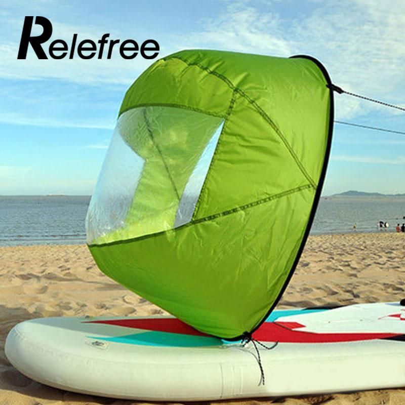 Relefree 42 Inch Kayak Wind boat pvc Paddle Sailing Kit Board Downwind Boat for fishing with Clear Window wing Canoe Wind Paddle