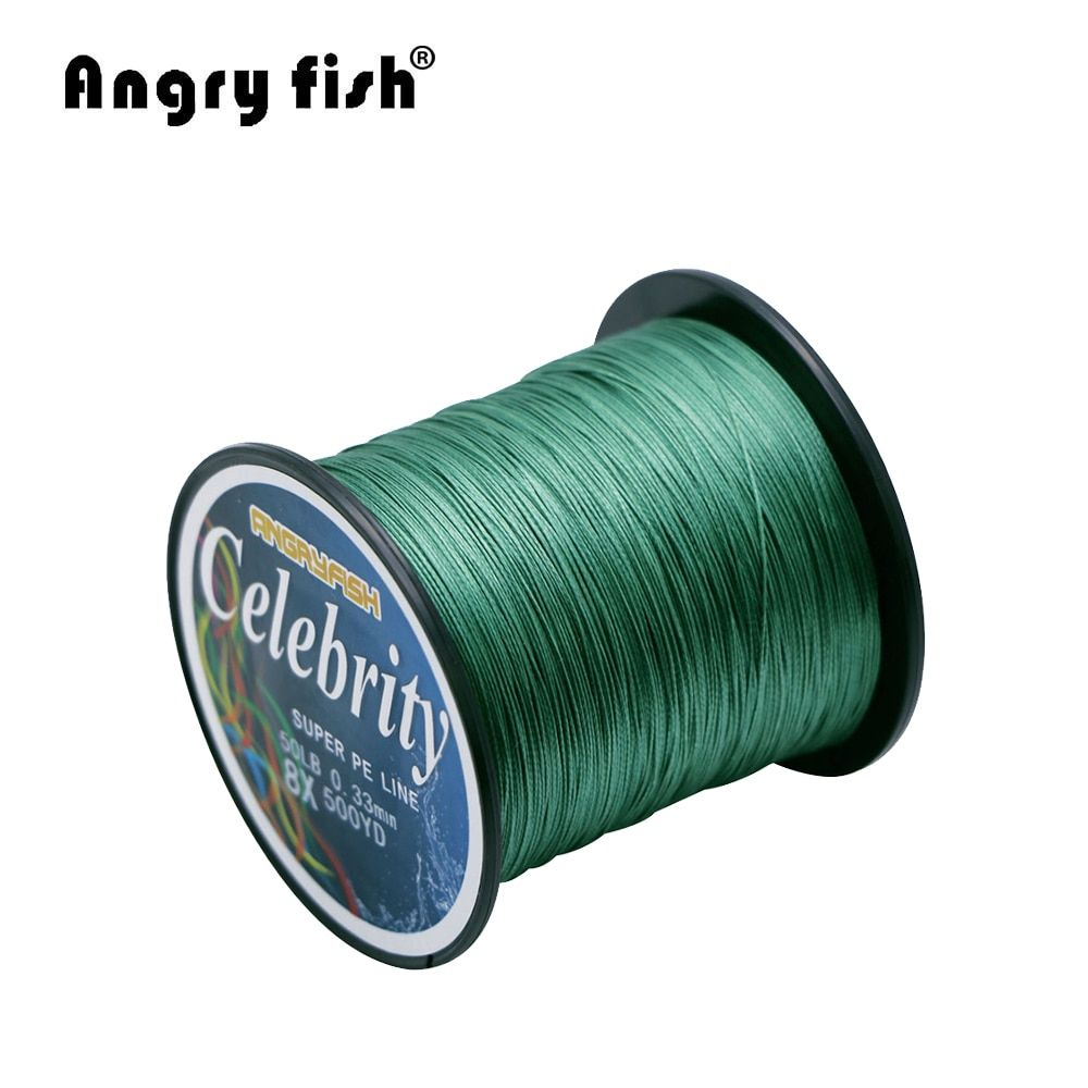 Angryfish 457M 500Yards 8 strands PE Braided Fishing Line Strong Strength Line