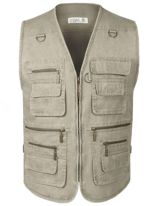 Homme Denim gilet Jean veste sans manche gilet grande taille avec beaucoup de poches