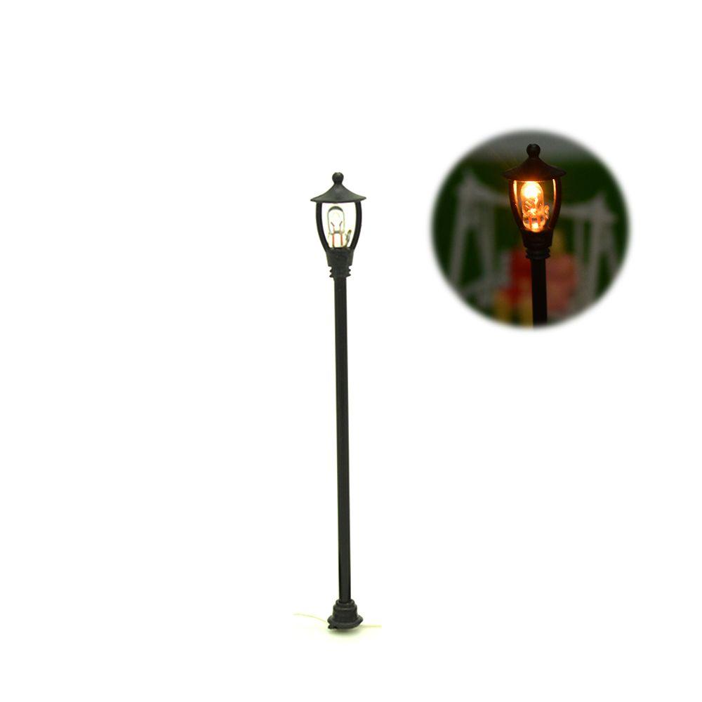 6.5 V miniature HO architectural cour lumière modèle lampadaire pour échelle disposition de train échelle lampes