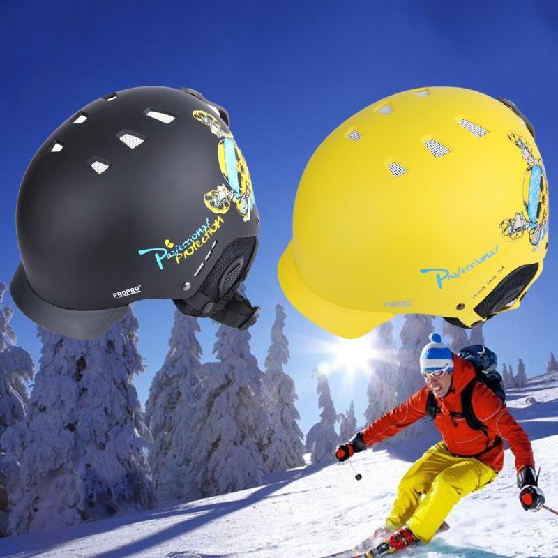 Propro 2017 Nuevo esquí casco de snowboard Ultralight cascos hombres mujeres patinaje esquí patineta protectorhead desgaste