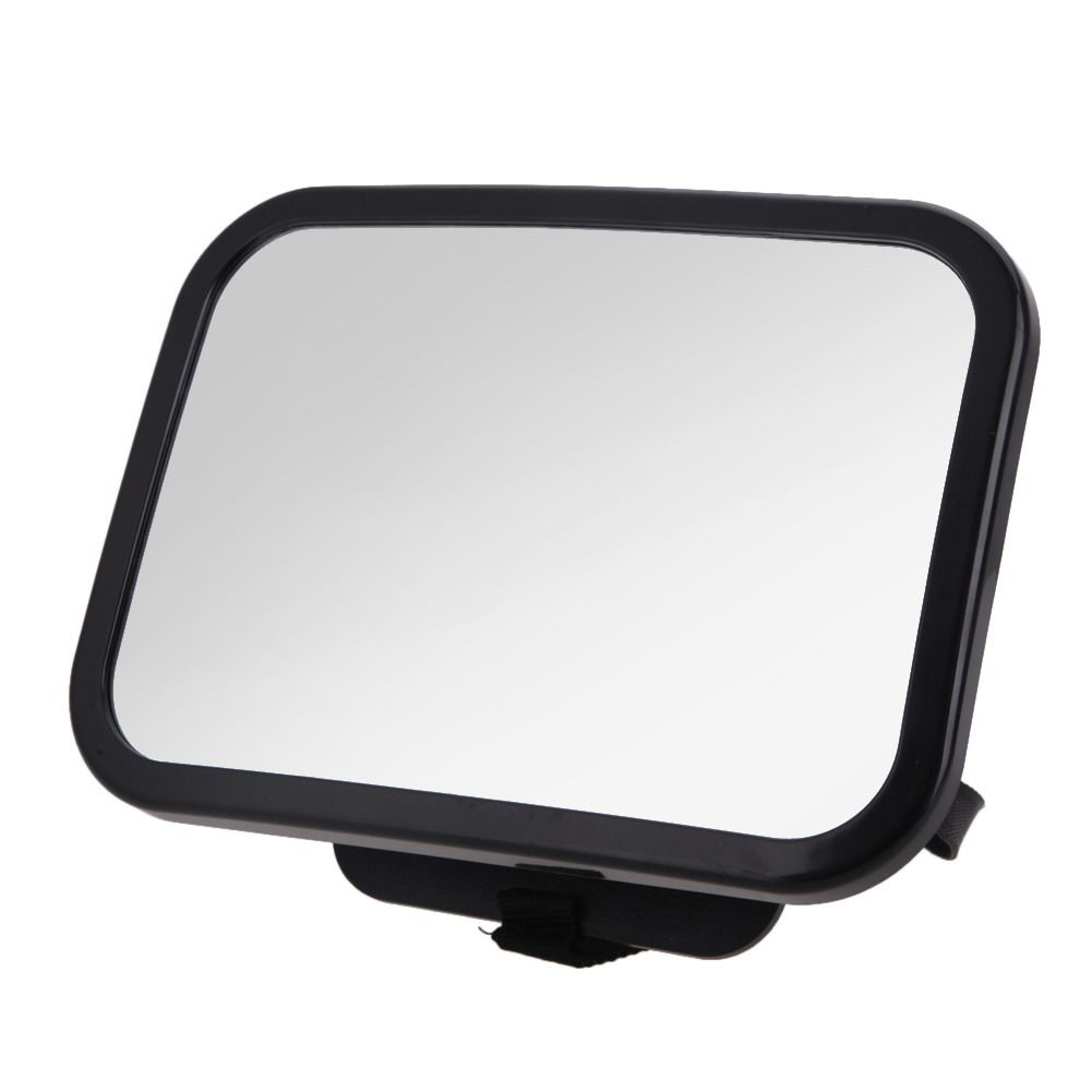 Adjustable Car Back Seat Rearview Mirror Baby Facing Rear Ward View Headrest Mount Mirror Square Safety Baby Kids Car Monitor
