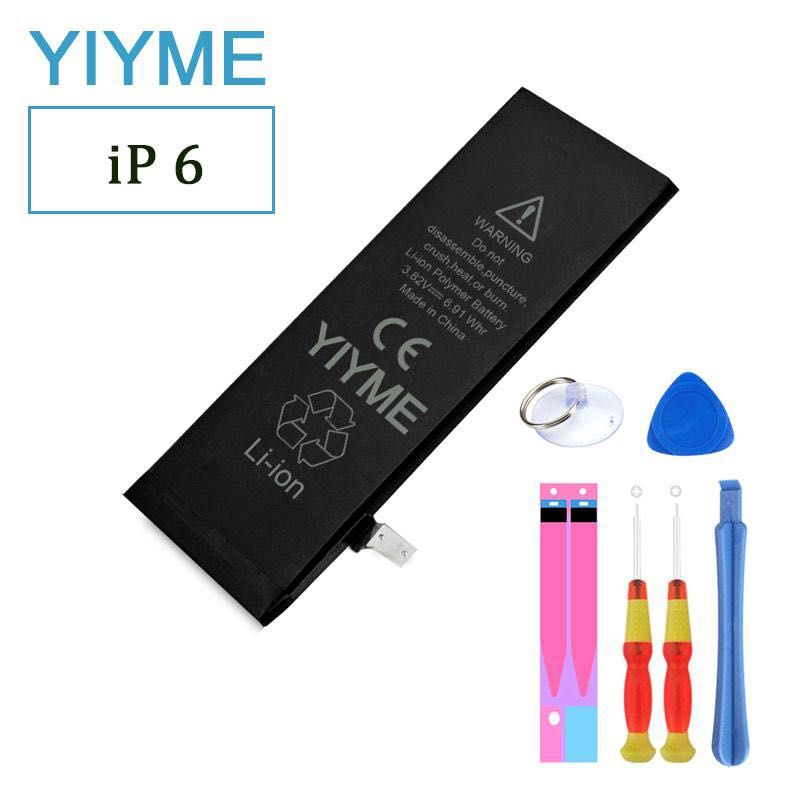 100% original Brand YIYME 1810mAh Genuine Li-ion Mobile Phone Accessory Replacement  for iPhone 6 battery