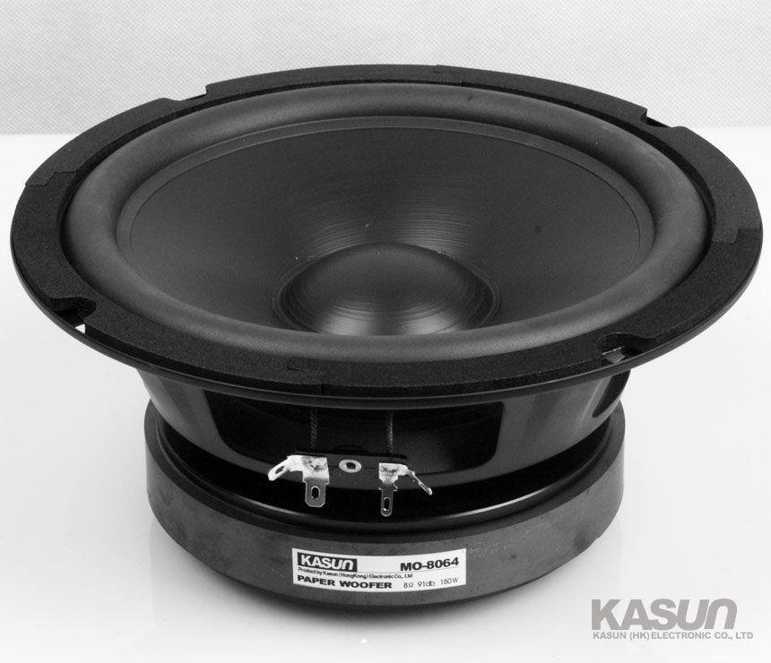 2PCS KASUN MO-8064 8'' Paper Woofer Speaker Driver Unit Deep Bass Suspension 8ohm/180W Fs 37Hz Max Diameter 210mm