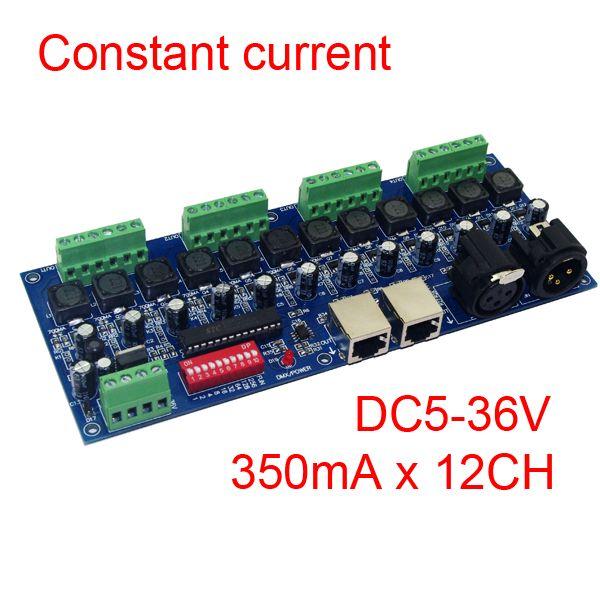 Constant Current 350mA 12CH Dimmer 12 Channel DMX512 Decoder Controller DMX Convertor DMX 512 Dimmer DC5-36V