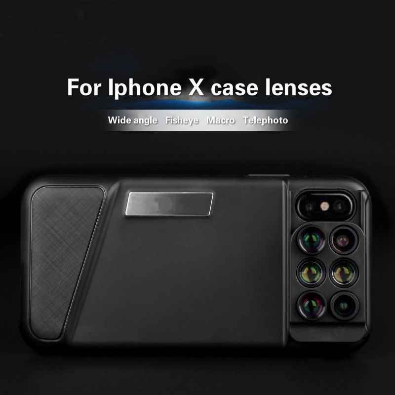 Multi-function Mobile Phone Lens Cover for Iphone X External Lens Wide-angle Fisheye Macro Telephoto Special Effects Lens