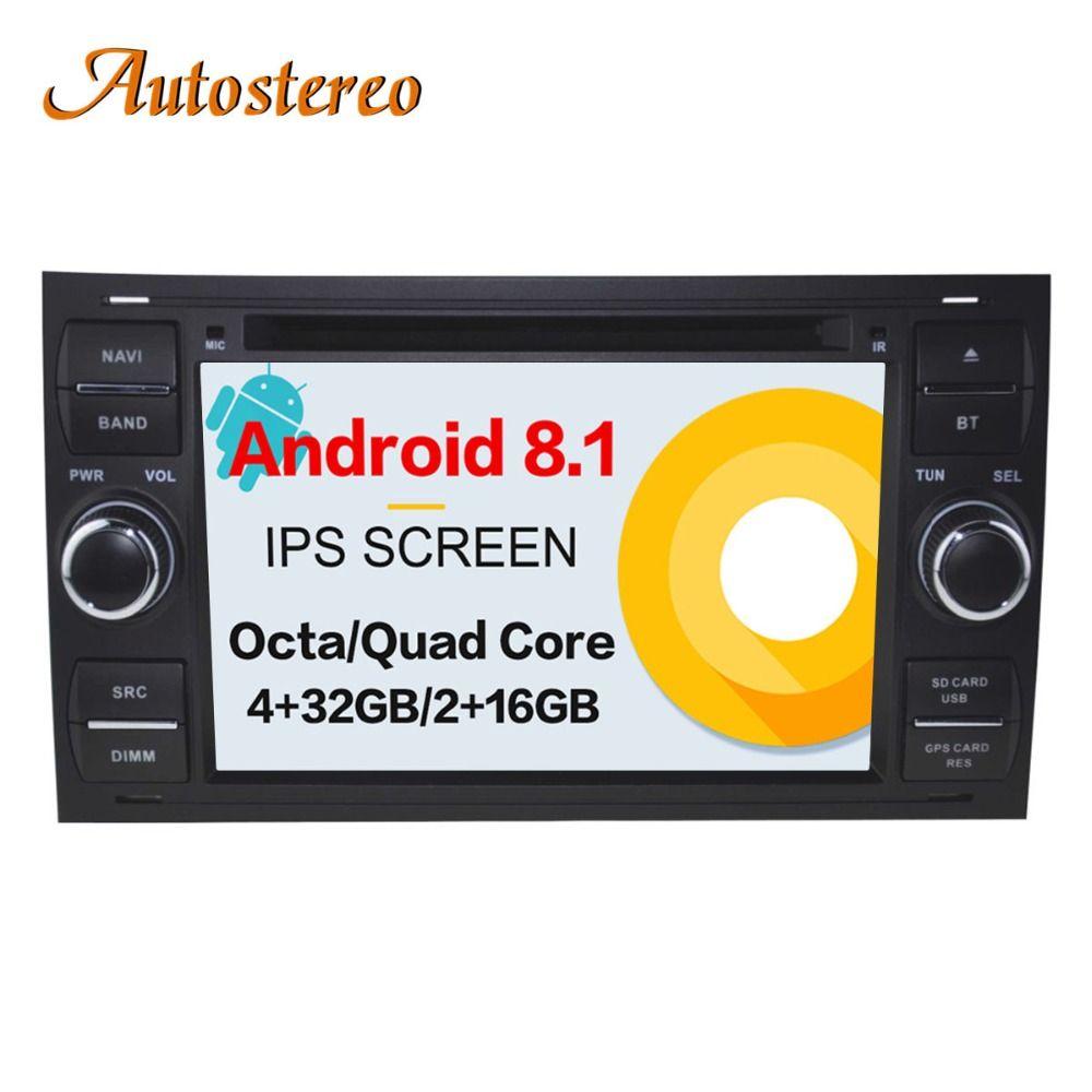 Android 8 Auto CD DVD Player 2 din radio Für FORD FOCUS C-MAX FIESTA FUSION GALAXY TRANSIT KUGA auto GPS navigation multimedia Pad
