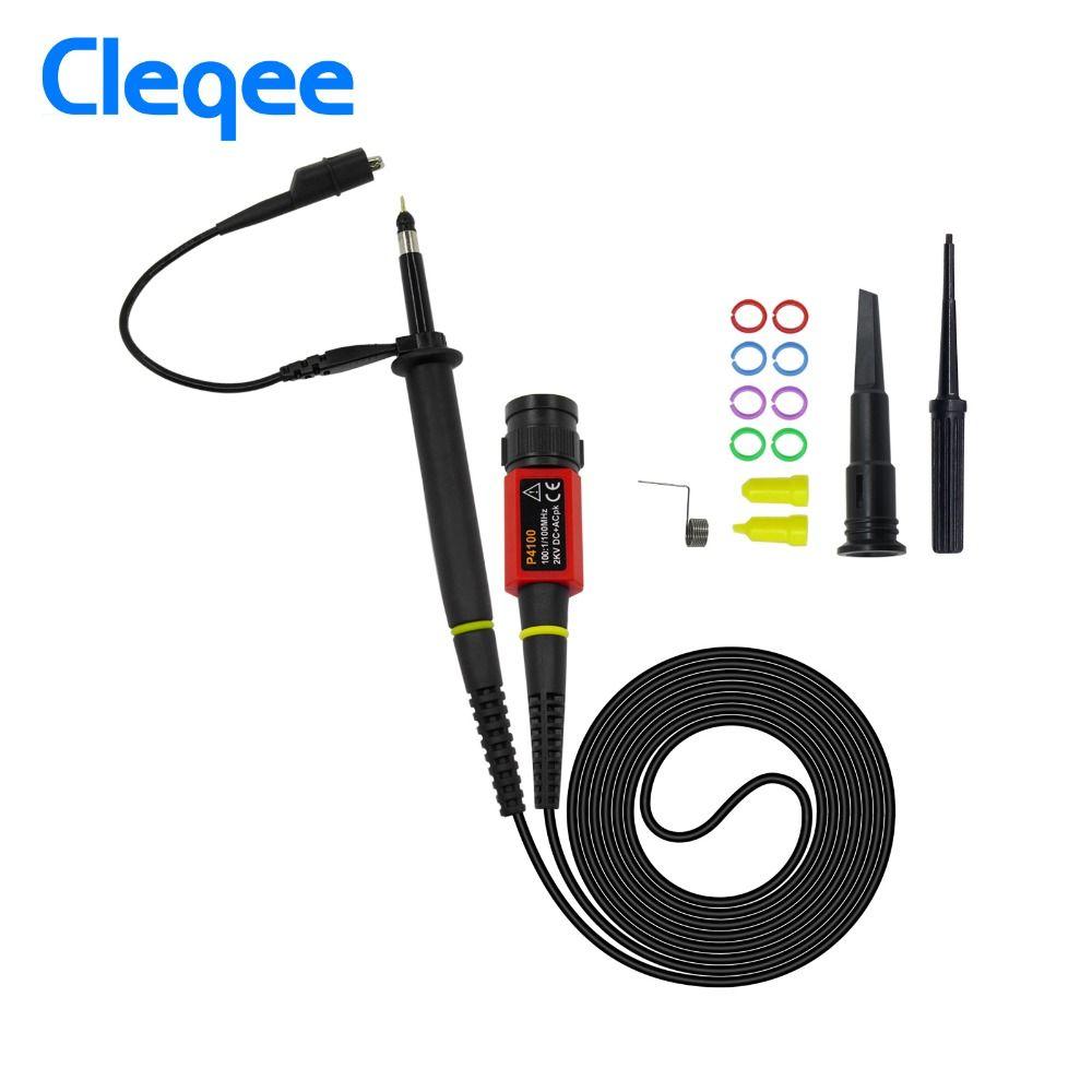 Cleqee P4100 1 PCS Oscilloscope Sonde 100:1 Haute Tension Résister 2KV 100 MHz pour Oscilloscope owon liliput en gros