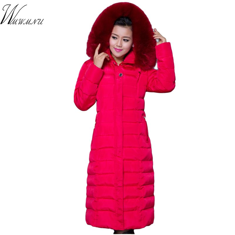 Wmwmnu invierno de la alta calidad más el tamaño 5XL mujeres de la capa 2017 nuevos la llegada del tamaño grande negro hembra invierno chaqueta de manteau femme hiver