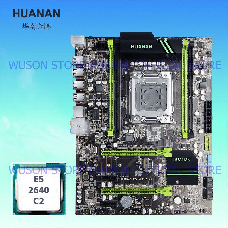 HUANAN V2.49 X79 MOTHERBOARD-FREIES CPU kit X79 LGA2011 motherboard CPU Xeon E5 2640 PCI-E NVME SSD M2 port RAM 4 kanäle alle getestet