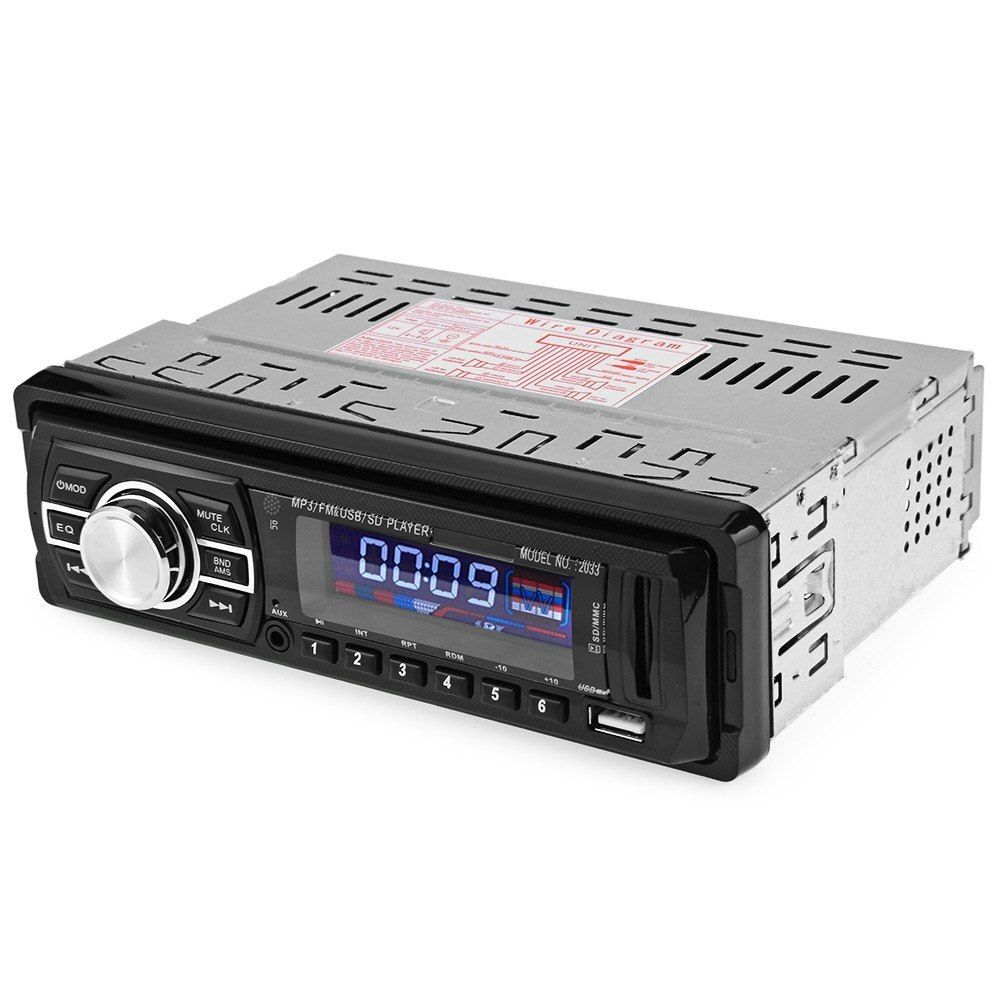 Car Radio Stereo Player Bluetooth AUX-IN MP3 FM/USB/SD remote control 12V Vehicle Audio Autos Support Smartphone Radios